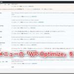 WP-Optimizeでデータベースをお掃除!(動画解説付)